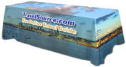 Full Color Printed Table Cover For 8 Foot Long Table