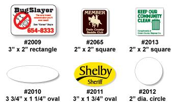 Custom Printed Stickers And Window Decals - Custom vinyl stickers 1 x 2